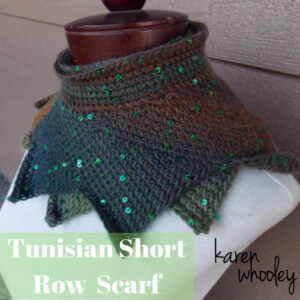 KWhooley - Tunisian Short Row Scarf