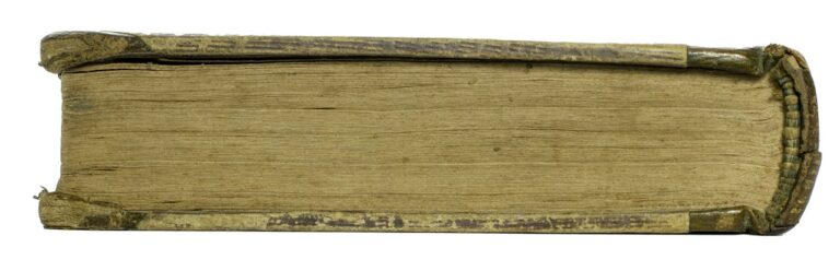 Old Book on its side