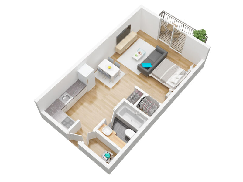 residence bellevue unit C plan