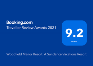 "Woodfield Manor, A Sundance Vacations Property has been awarded Booking.com ""Traveler Review Awards 2021"""