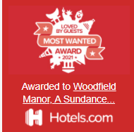 Woodfield Manor loved by guest 2021 award