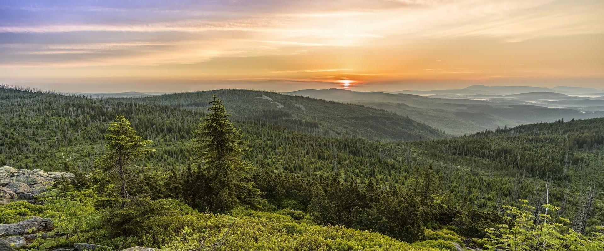 Panorama Sunrise Mountains