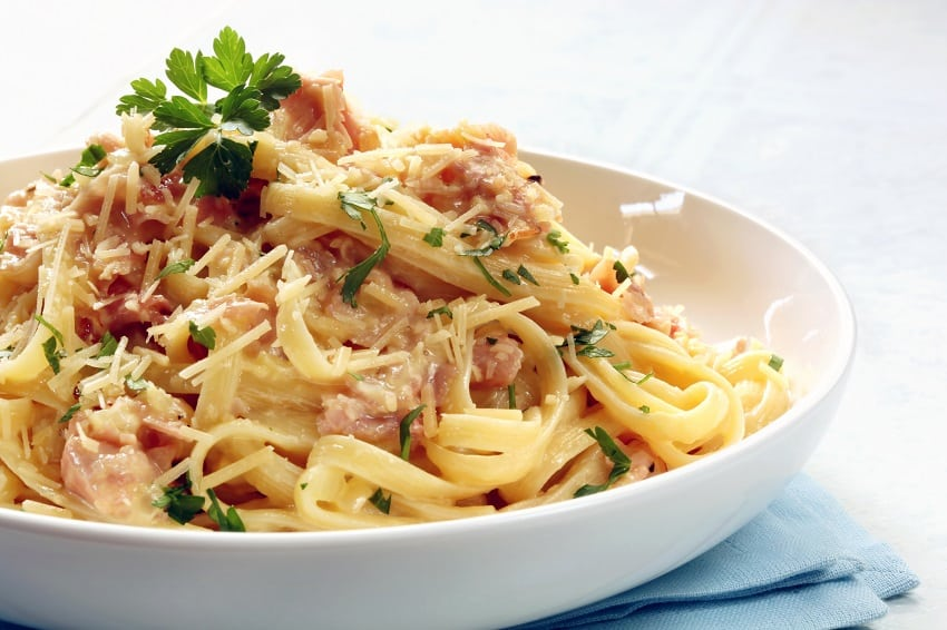 Hot Smoked Salmon Linguinie