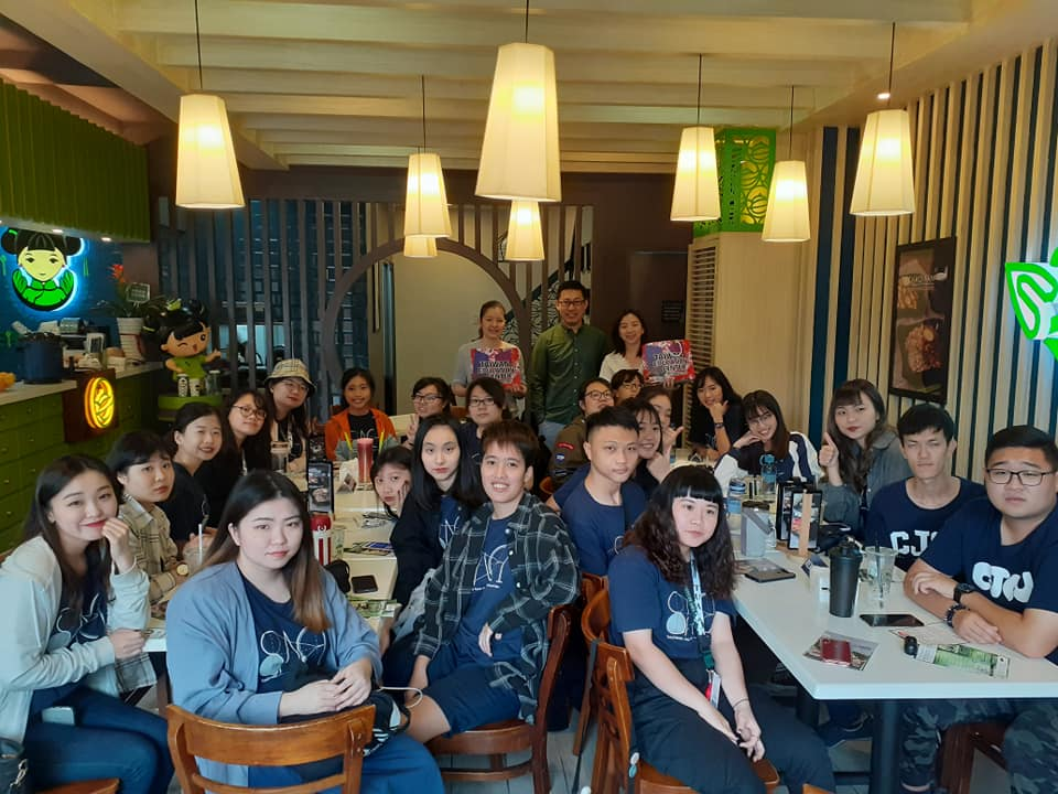 Chang Jung Christian University Southeast Asian Cultures and Industries students that currently having their immersion program in metro manila