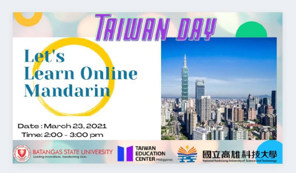 Welcome BSU and NKUST being part of Study in Taiwan Series and Online Mandarin Course Program