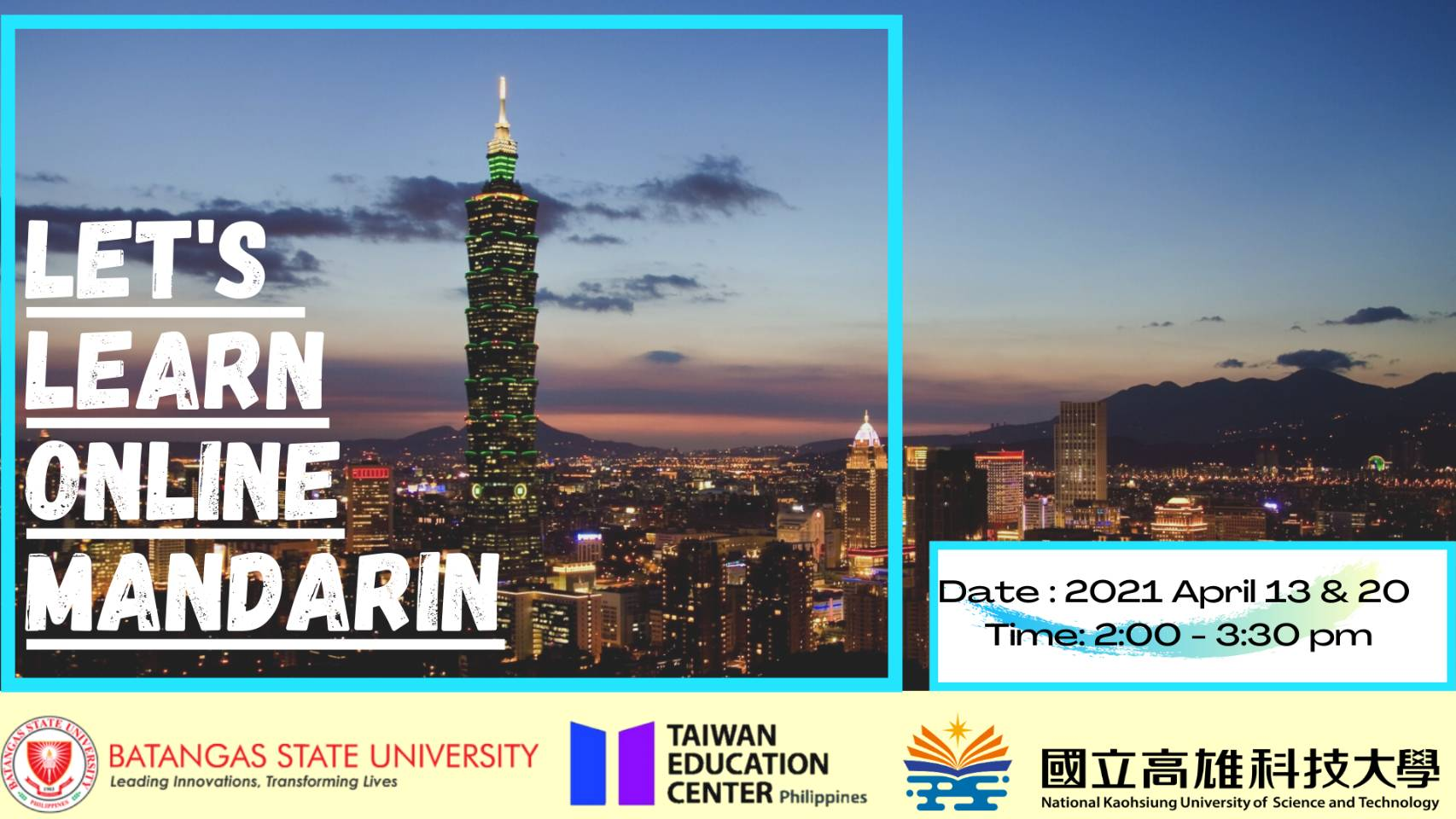 Taiwan Series and Online Mandarin Course Program