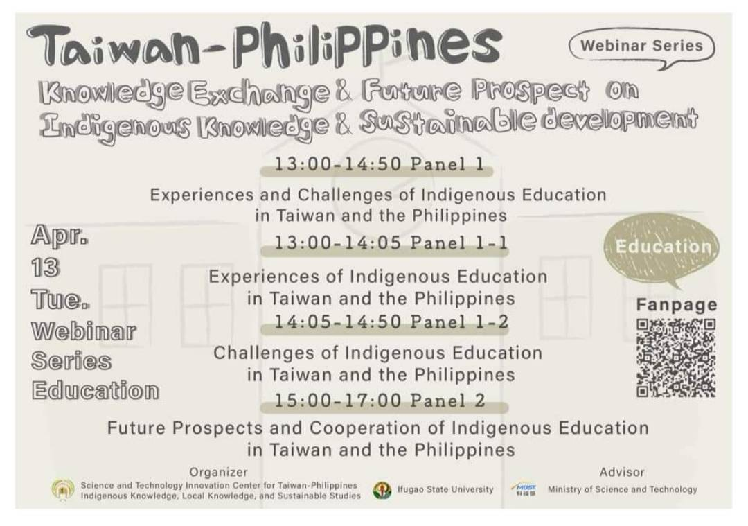 Webinar series education with CTPILS, Ifugao State University and MOST Taiwan in their discussion on Taiwan-Philippine
