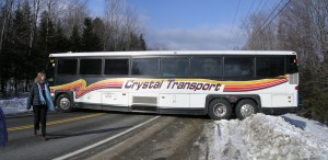 MIT Snowriders bus gets stuck near Sugarloaf