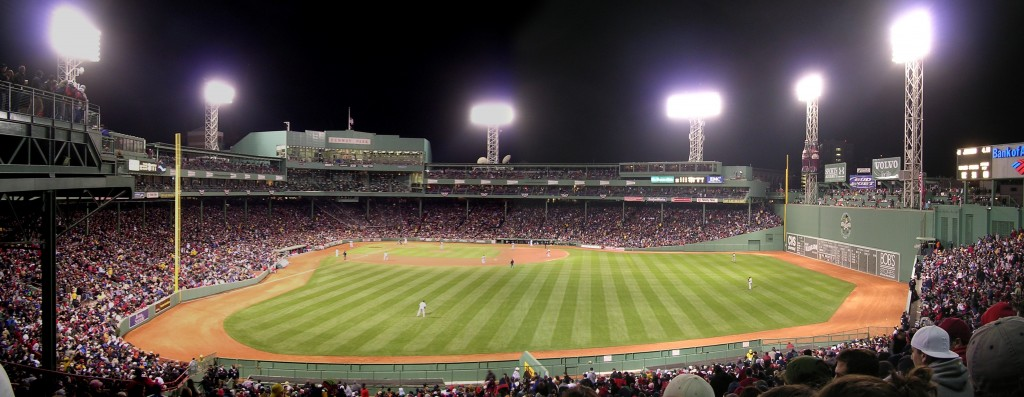 Fenway Park bleachers panorama