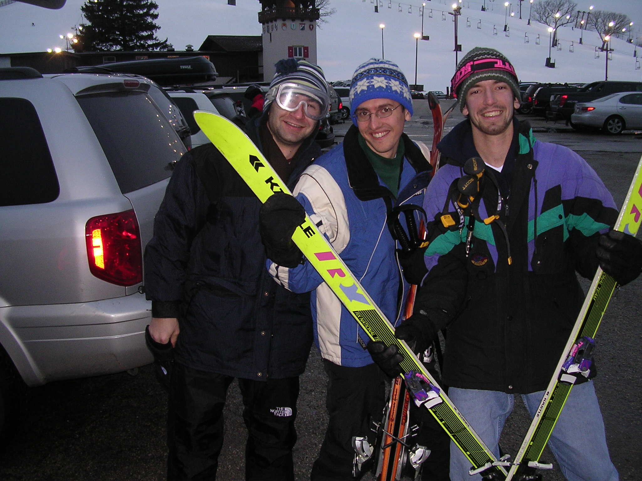 80's style skiing at Wilmot