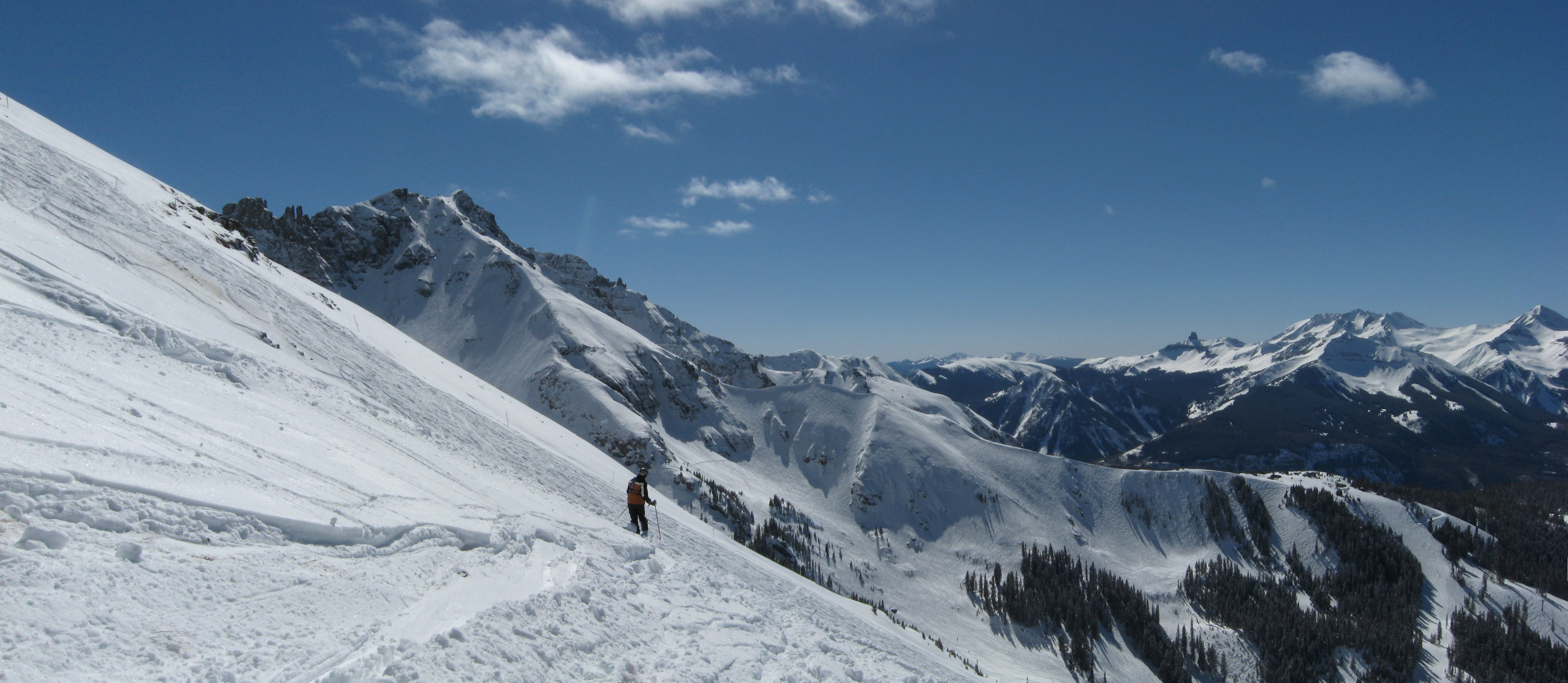 Palmyra Peak and Black Iron Bowl viewed from Gold Hill, Telluride, CO