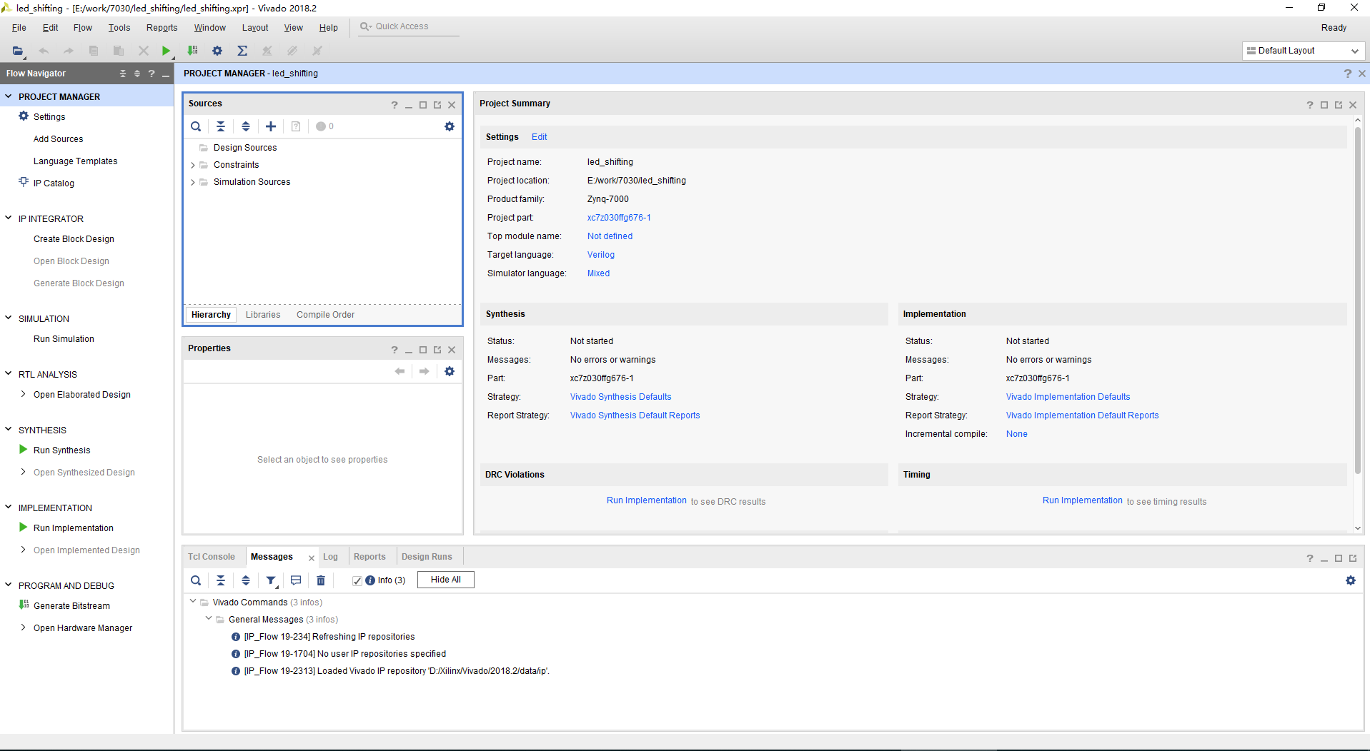 PROJECT MANAGER interface