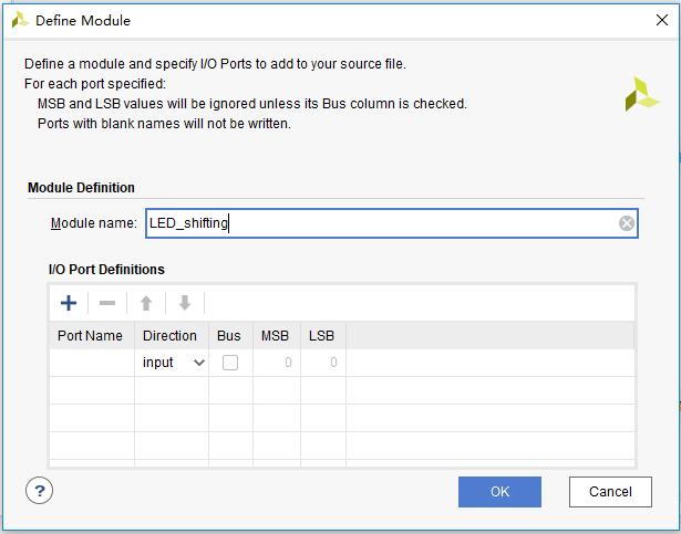 Define Module dialog box
