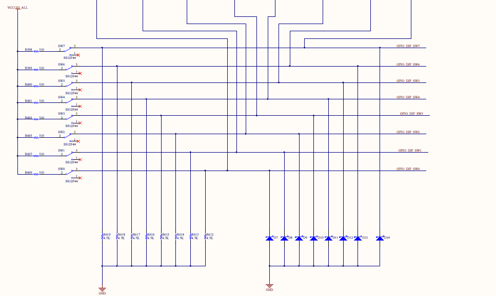 Schematics of the switches