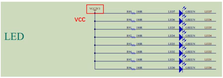 LED wiring of schematics