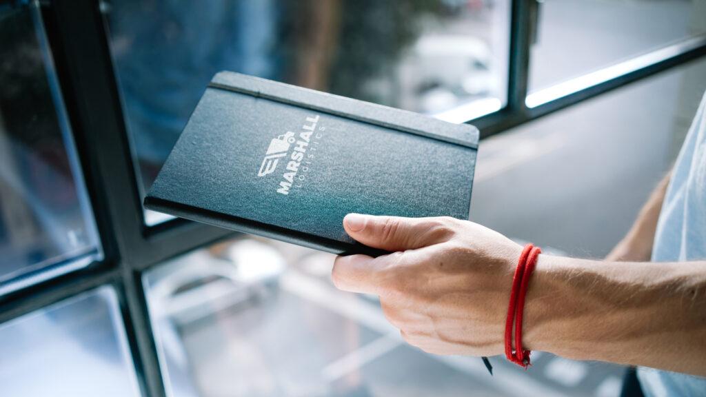 Custom branded notebook