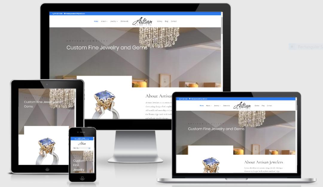 Vision Marketing jewelry designer website