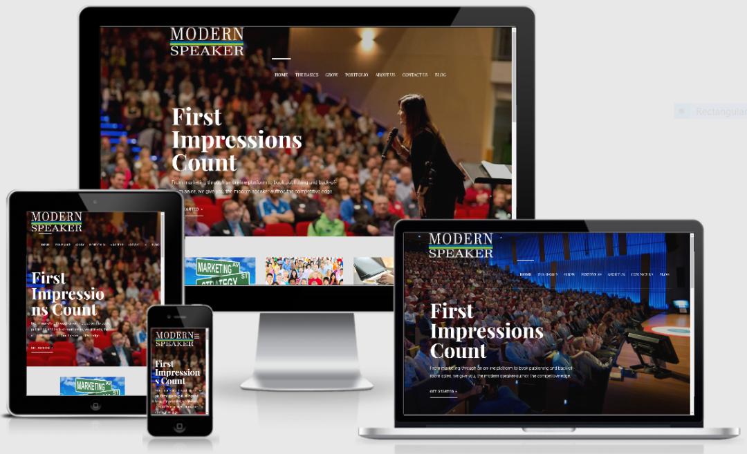 Vision Marketing website for Modern Speaker