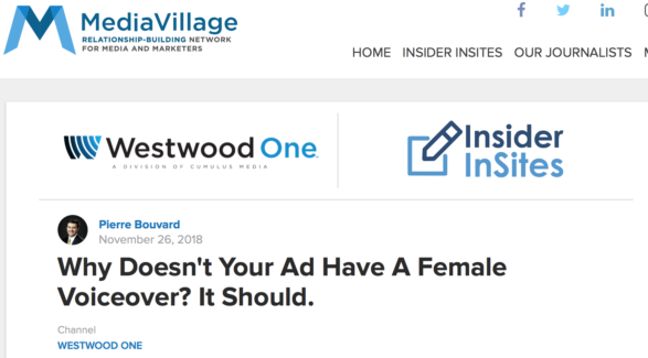 Why Doesn't Your Advertising Have A Female Voice-Over? It Should.