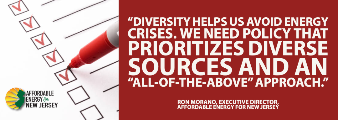 New Jersey's Energy Policy Must Emphasize Reliability, Diversity, and Affordability
