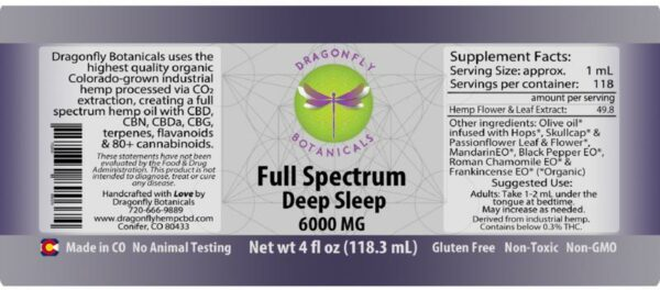 Full Spectrum Deep Sleep label