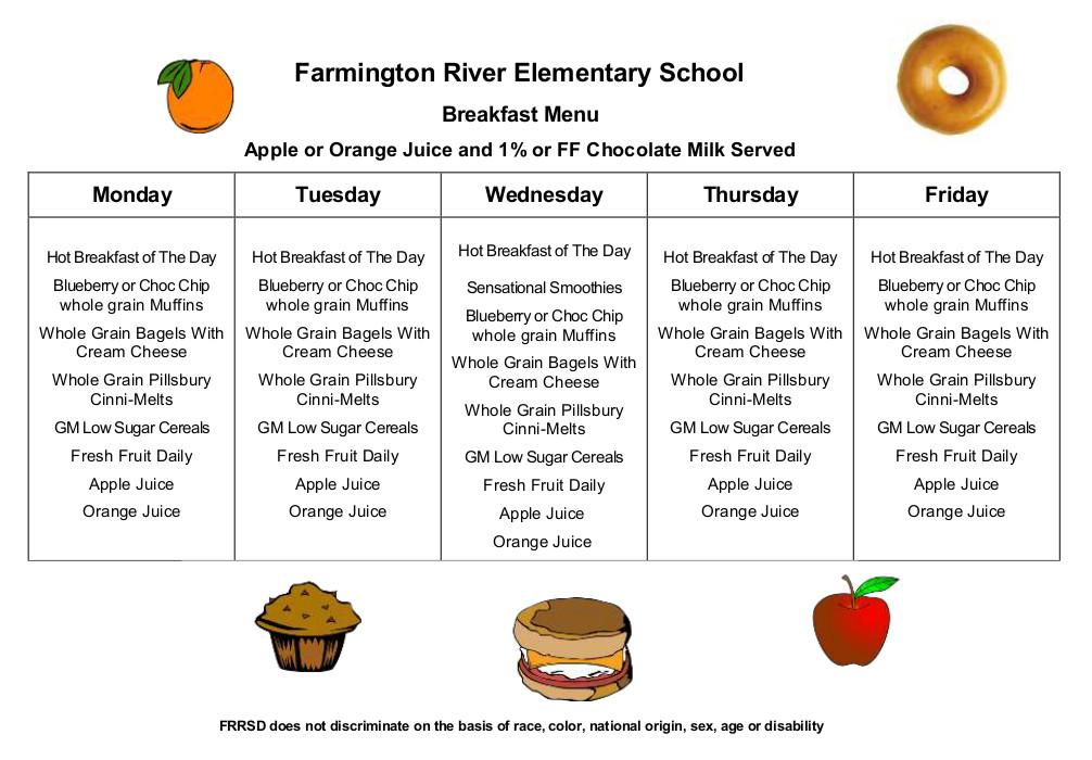 Breakfast/Lunch Menus – Farmington River Regional School