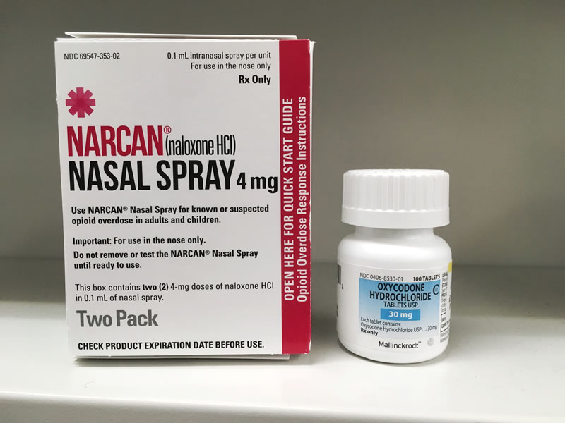 Narcan, a Naloxone Nasal Spray Available Over The Counter At A Pharmacy