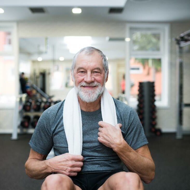 older man exercise