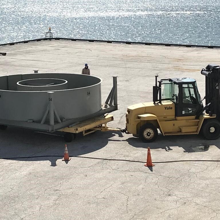 repeater being loaded