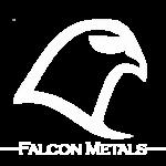 falcon metal logo white