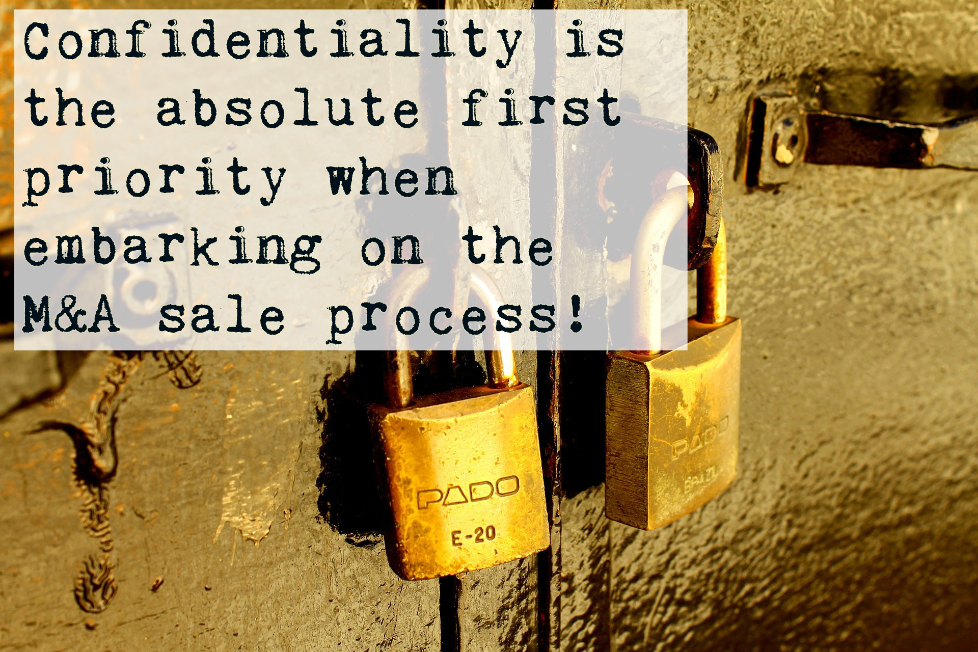 Confidentiality is top priority