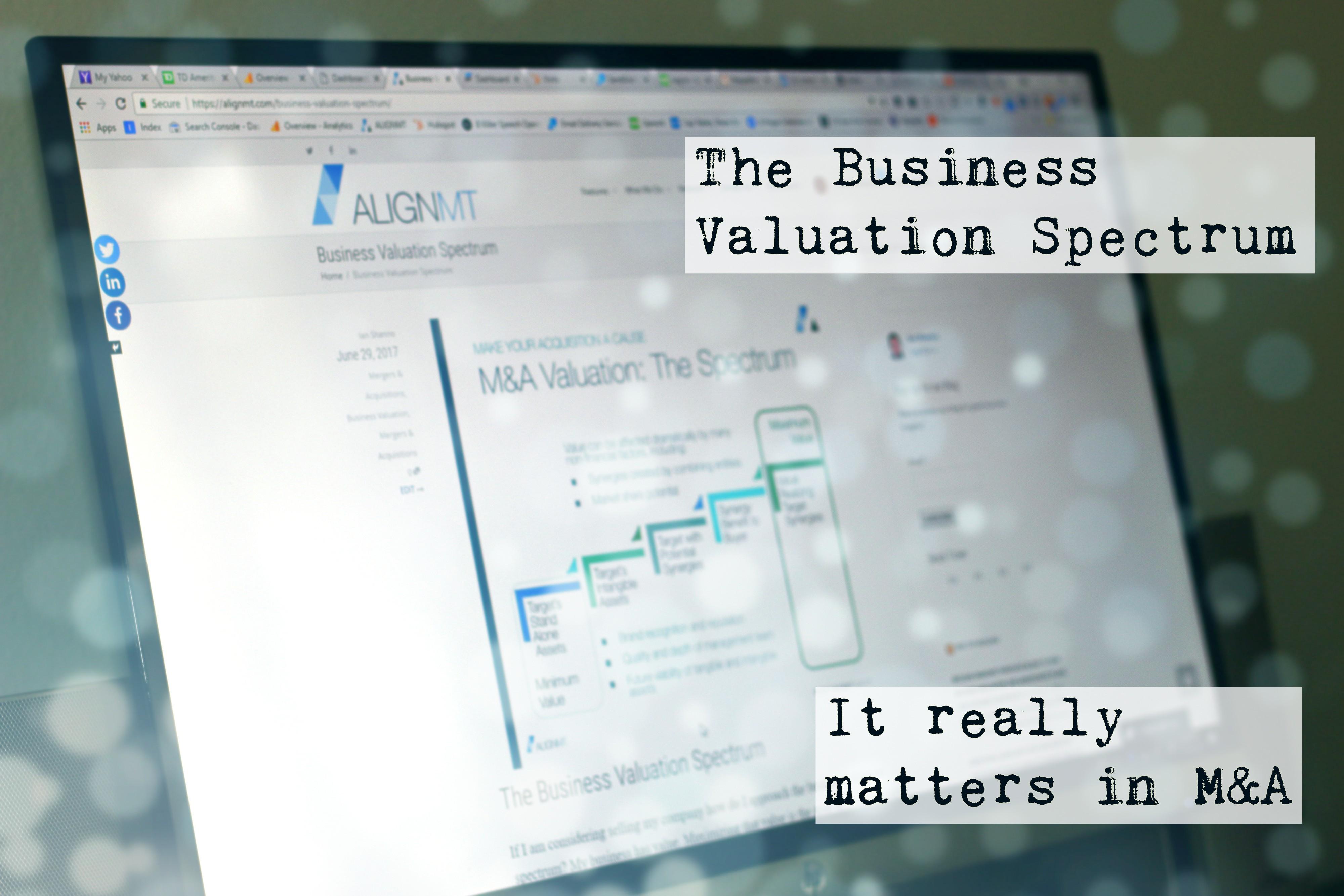 business valuation spectrum