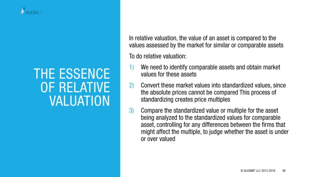The essence of relative valuation