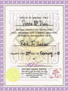 Reiki I Healer
