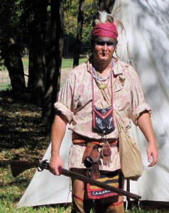 Woodland Indian Reenactor