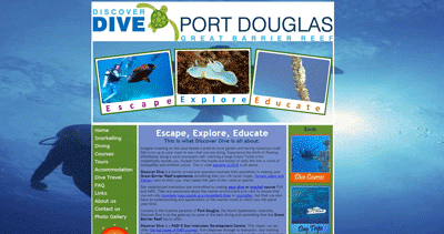 Discover Dive Website