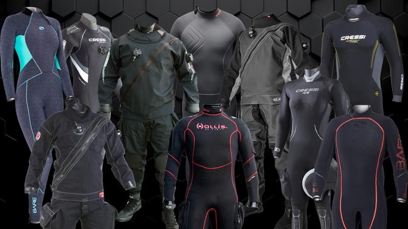 Drysuit and Wetsuit