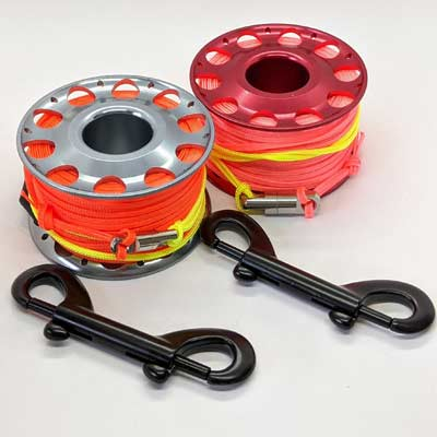 25m Aluminium Reel with Swivel & Clip