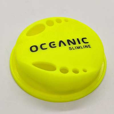 Oceanic Slimline 2 and 3 and Second Air Purge Cover Neon