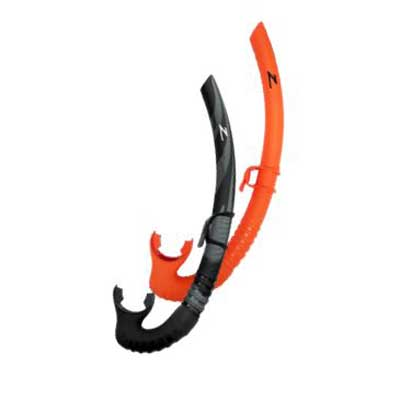 Zeagle Tango Snorkel - Camo and Rescue Orange