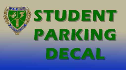 Student Parking Decal Application