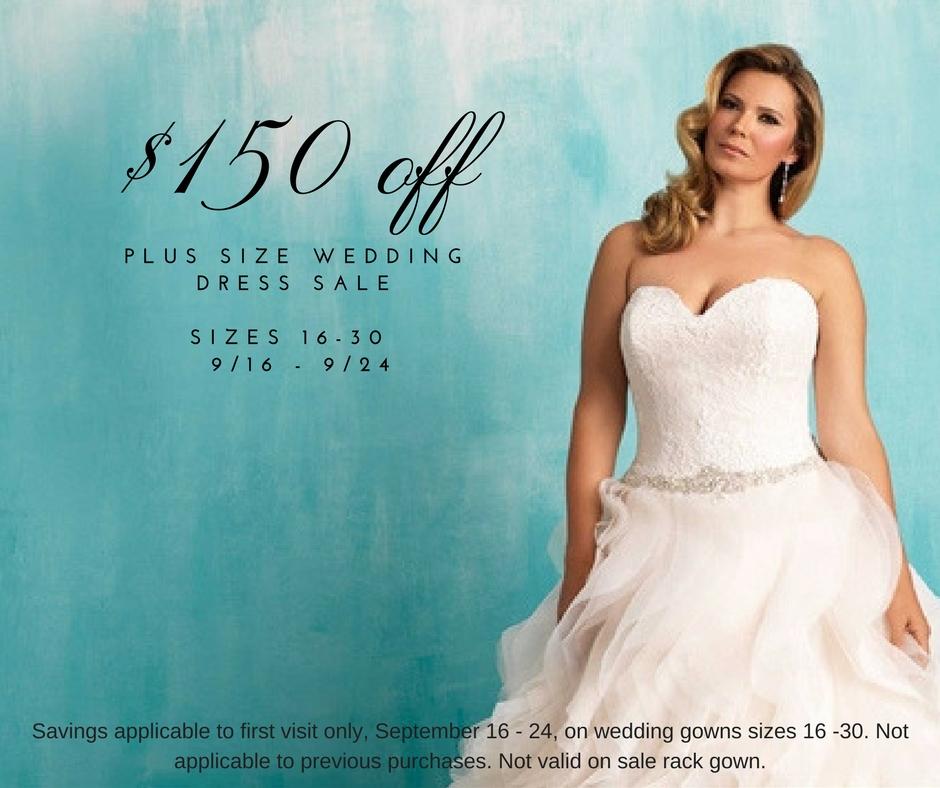 Plus Size Wedding Dress Sale – Save $150