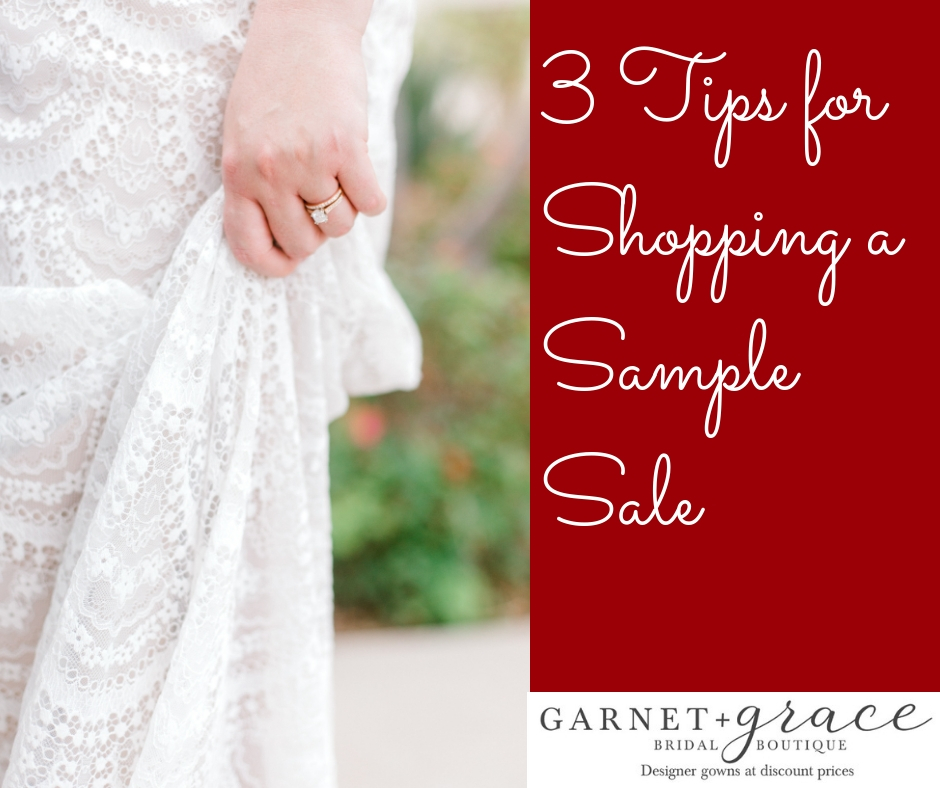 3 Tips for Shopping a Wedding Dress Sample Sale
