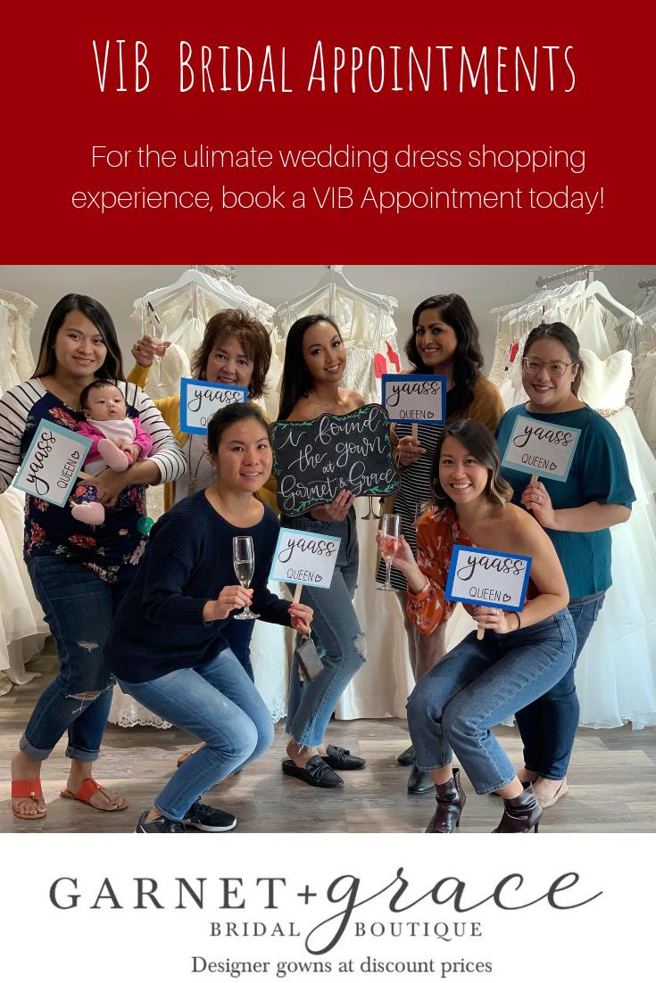VIB Wedding Dress Shopping Appointments
