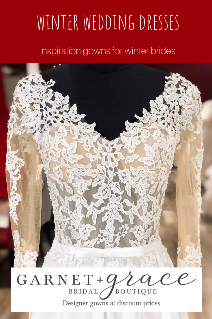 3 Beautiful Winter Wedding Dresses