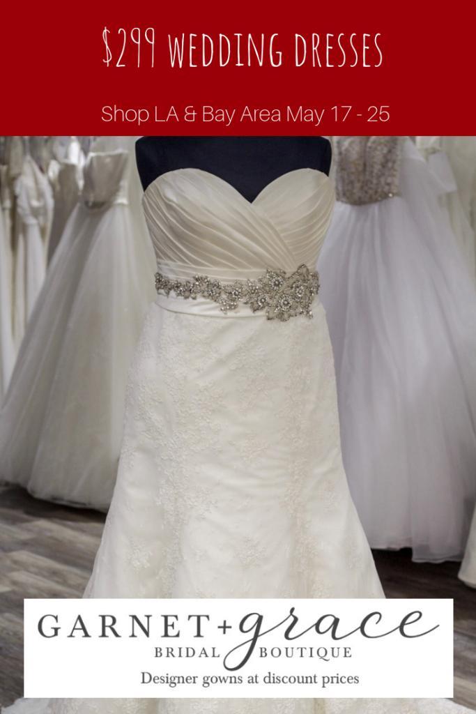 299 Wedding Dress Sample Sale Garnet Grace Discount Designer Wedding Dresses