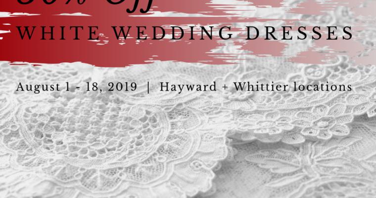 White Wedding Dresses 50% Off