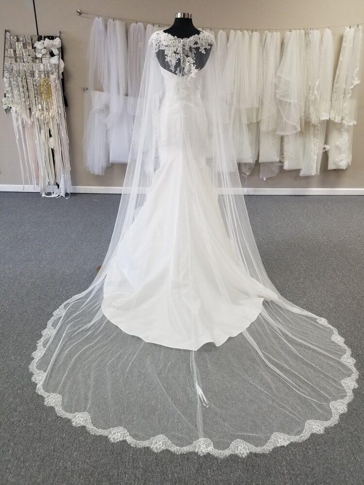 lace edge wedding cape