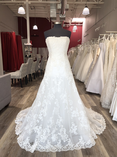 lace aline wedding dress