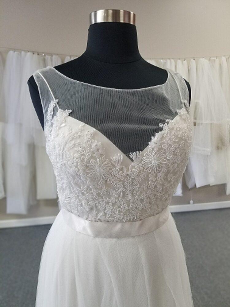 high illusion neck aline for mature bride